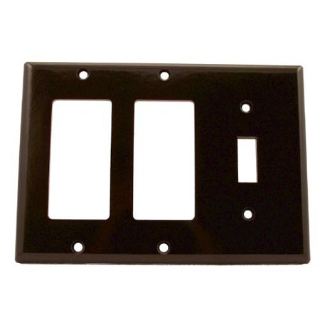 Leviton 80431 Brown Three Gang Combination One Toggle Switch Two Decora Wall Plate Combination 3 Gang Wall Plates