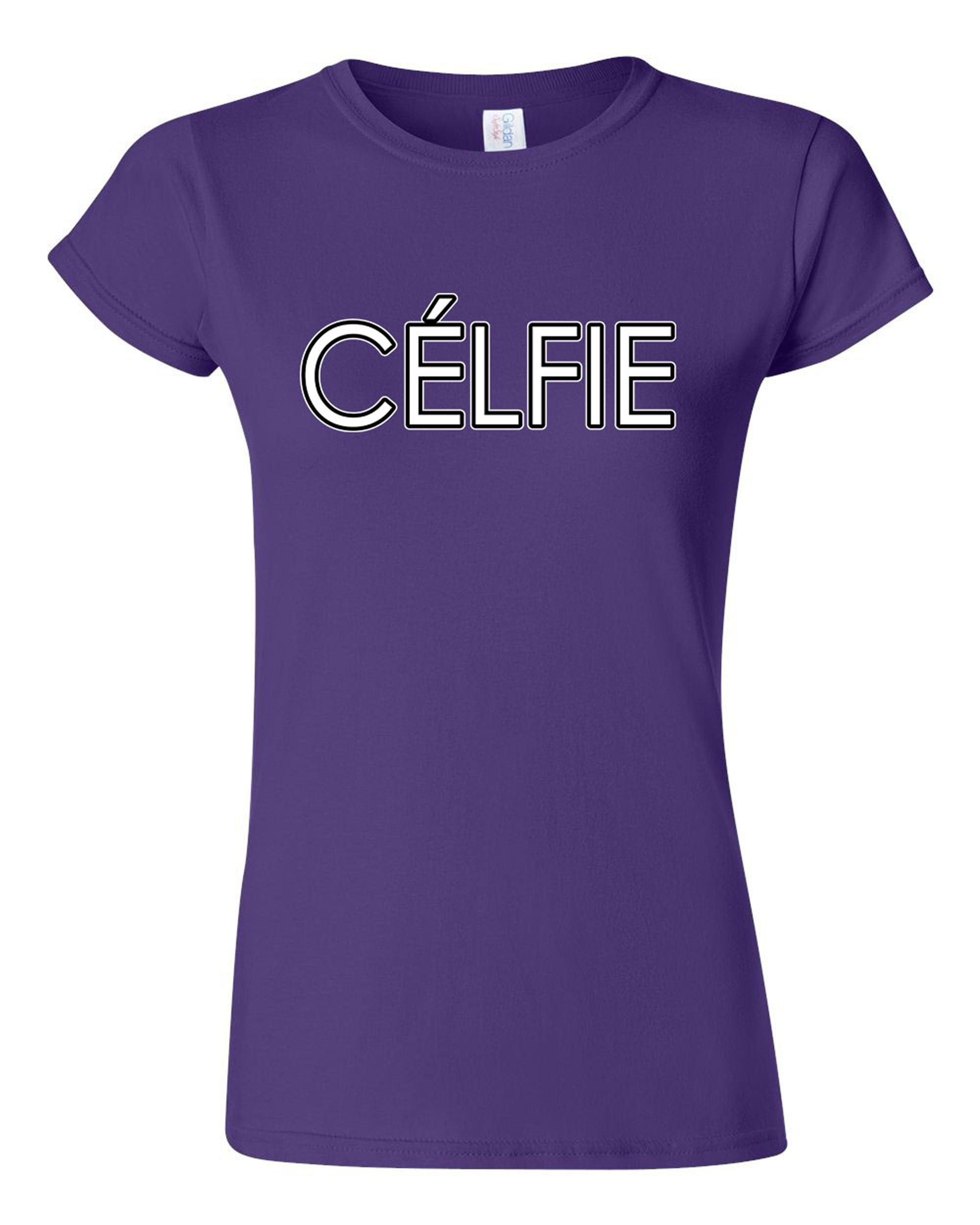 Junior Celfie Selfie Funny Humor DT T-Shirt Tee