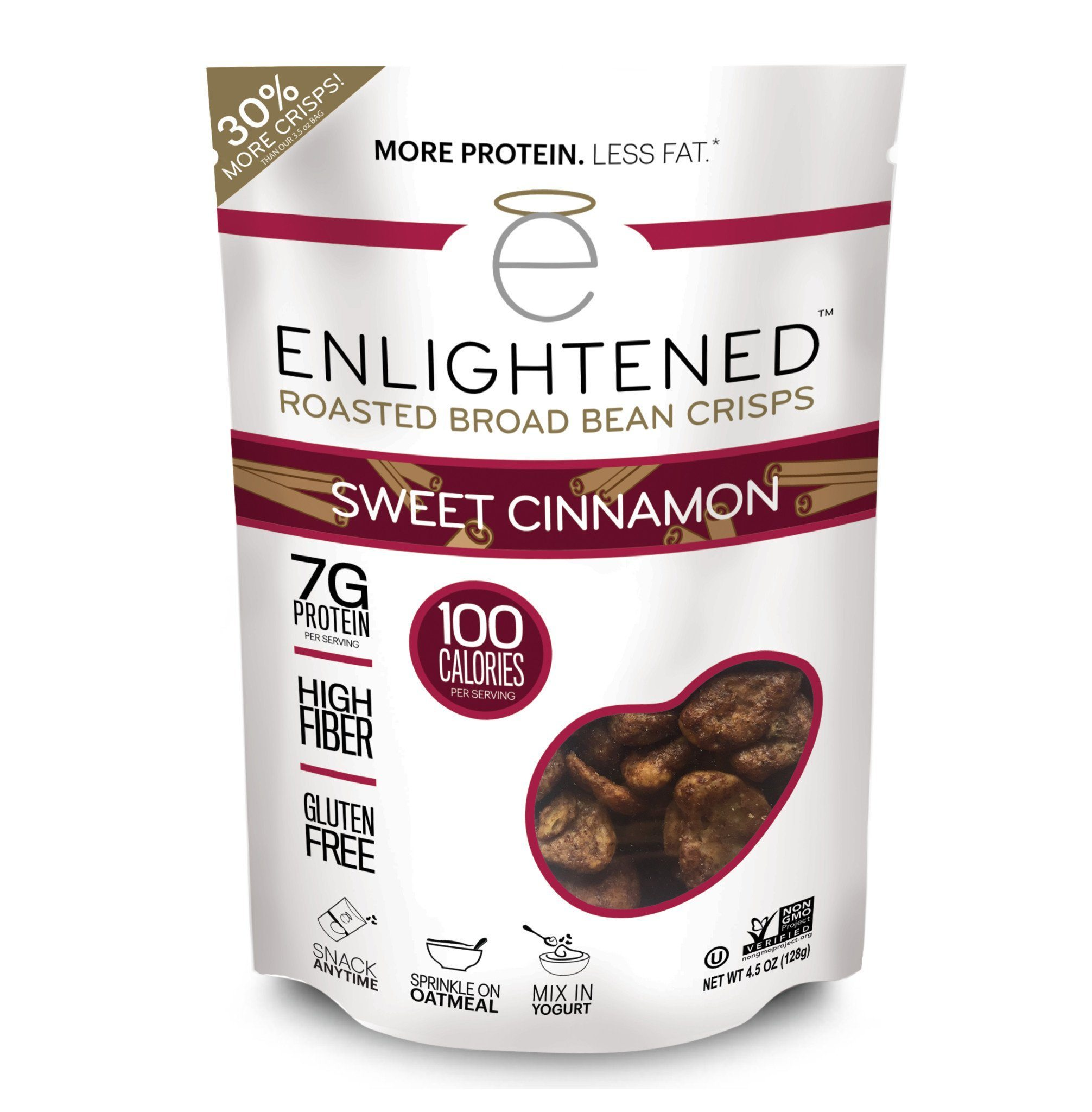 Enlightened Roasted Broad Bean Crisps - Sweet Cinnamon