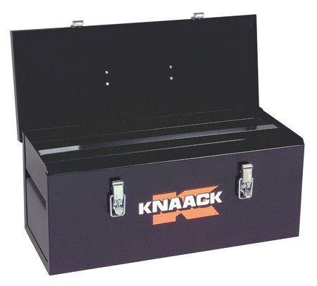 Knaack Portable Tool Box, 18 gal. Steel, Black, 742