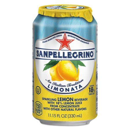 San Pellegrino Lemon (San Pellegrino Sparkling Fruit Beverages, Limonata (Lemon), 11.15 oz Can, 12/Carton)
