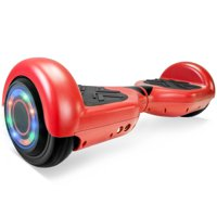 """UL 2272 Certificated 6.5"""" Self Balancing Hoverboard Scooter w/ Bluetooth Speaker - Matte Red"""