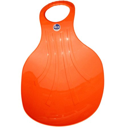 Kids Snow Sled Boat Sledge Portable Toboggan Glider Color:Orange