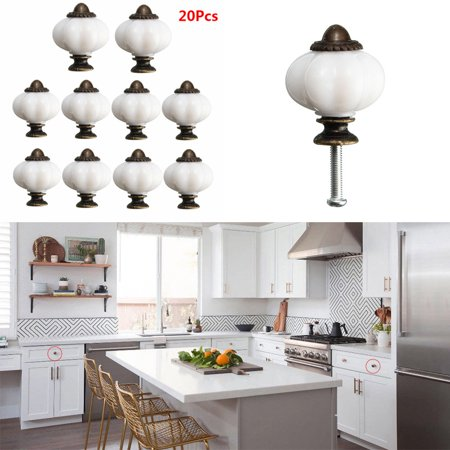 20Pcs Retro Knobs Door Kitchen Cupboard Cabinet Drawer Pull Handles DI