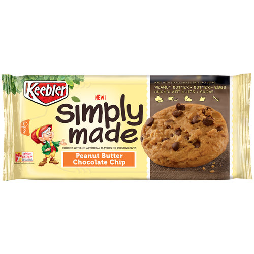 3 Pack Keebler Simply Made Peanut Butter Chocolate Chip Cookies 10 Oz Walmart Com Walmart Com