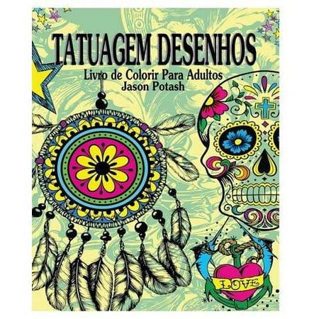 Tatuagem Desenhos Livro de Colorir Para Adultos - image 1 of 1