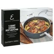 Emeril Lagasse 5 Quart Hard Anodized Nonstick Covered Deep Saute Pan