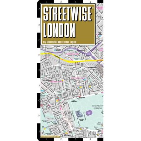 London In England Map.Streetwise London City Center Street Map Of London England