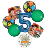 Toy Story 5th Birthday Party Supplies Balloon Bouquet Decorations