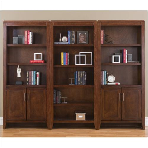 kathy ireland home by martin concord 3 wall bookcase