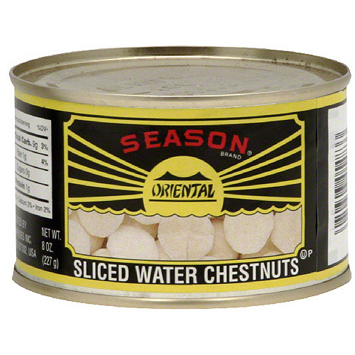 Asian Harvest Sliced Water Chestnuts, 8 oz (Pack of 12)