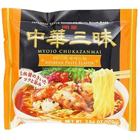 Myojo Chukazanmai Instant Ramen Miso Soybean Paste Flavor 3.84-Ounce (Pack of 6)