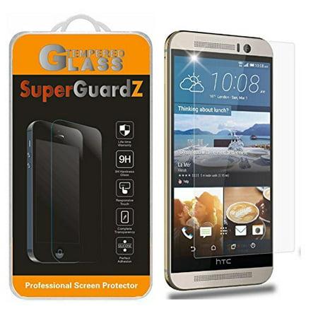 [3-Pack] For HTC One M9 - SuperGuardZ Tempered Glass Screen Protector, 9H, Anti-Scratch, Anti-Bubble, Anti-Fingerprint