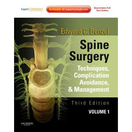 Spine Surgery  2 Volume Set  Techniques  Complication Avoidance And Management  Expert Consult   Online And Print   3E  9781437705874  Hardcover  3