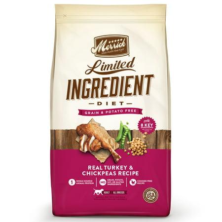 Merrick Limited Ingredient Diet Grain-Free Real Turkey + Sweet Potato Recipe Dry Dog Food, 22 lb