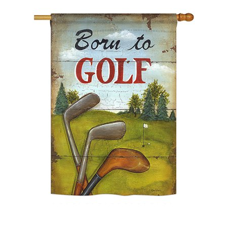 Breeze Decor - Born to Golf Interests - Everyday Sports Impressions Decorative Vertical House Flag 28