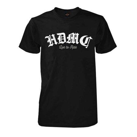 Harley-Davidson Men's Vintage Gothic Short Sleeve Crew-Neck T-Shirt, Black, Harley