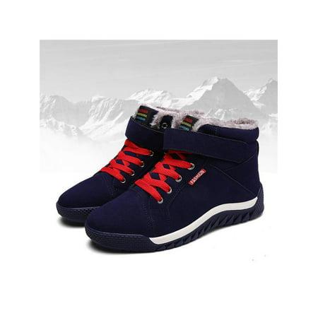 Meigar Men Snow Boots Winter Warm - Black Combat Boots For Men