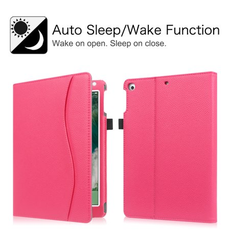 Fintie Multi-Angle Viewing Case Cover for iPad 9.7 6th / 5th Gen 2018 2017, iPad Air 1/2, Hot Pink - image 5 of 7