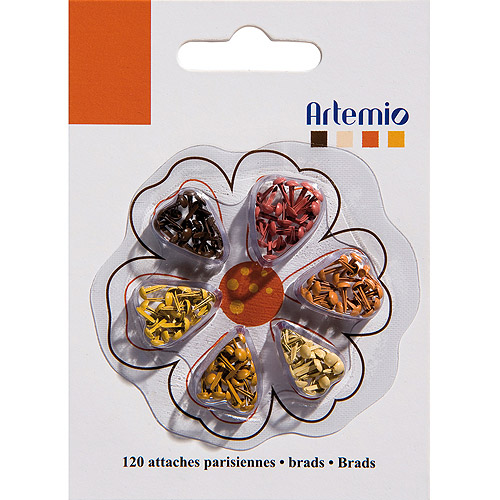 "Artemio .12"" Mini Brads, 120pk"