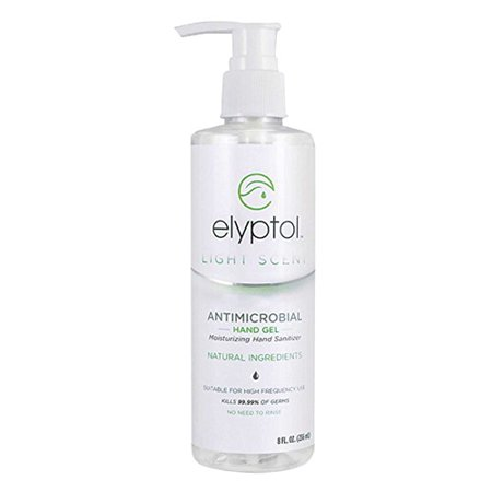 Elyptol Light Scent Antimicrobial Moisturizing Hand Sanitizer Gel With All Natural Ingredients, 8 Oz ()