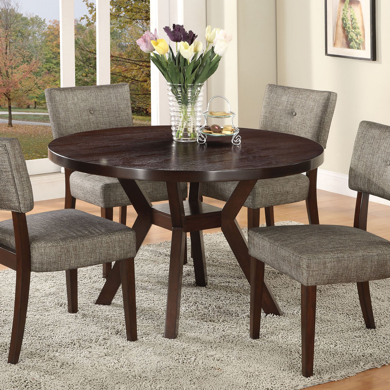 Small Kitchen Table Set Round kitchen table bramble hill extendable dining table round round kitchen table acme drake dining table espresso round kitchen table workwithnaturefo