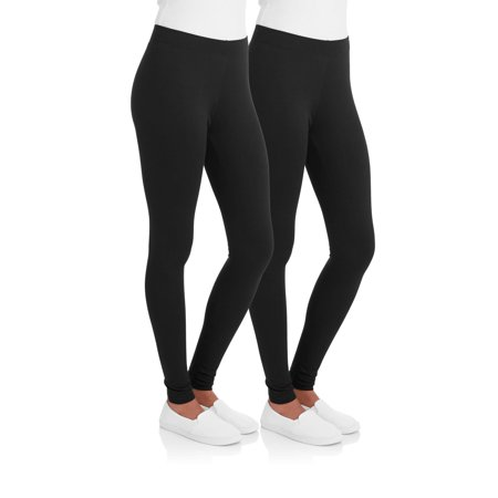 b4c6d317aad17 Faded Glory - Women's Essential Legging, 2-Pack - Walmart.com