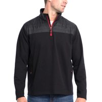 Eddie Bauer Men's Mixed Media Zip Pullover - Variety of Colors and Sizes