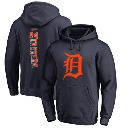 Miguel Cabrera Detroit Tigers Fanatics Branded Backer Pullover Hoodie - Navy Detroit Tigers Youth Fleece Pullover