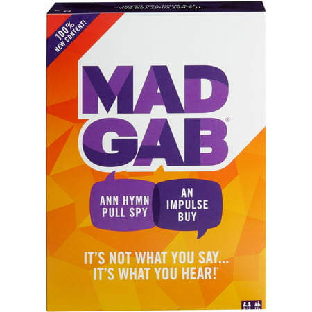Mad Gab Timed Card Game for 2-12 Players Ages 12Y+