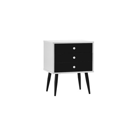 Divano Roma Furniture Mid Century Modern Nighstand Side Table With