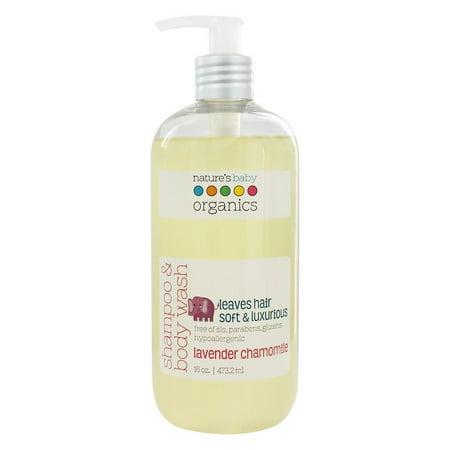 Natures Baby Organics   Shampoo   Body Wash Lavender Chamomile   16 Oz  Pack Of 3