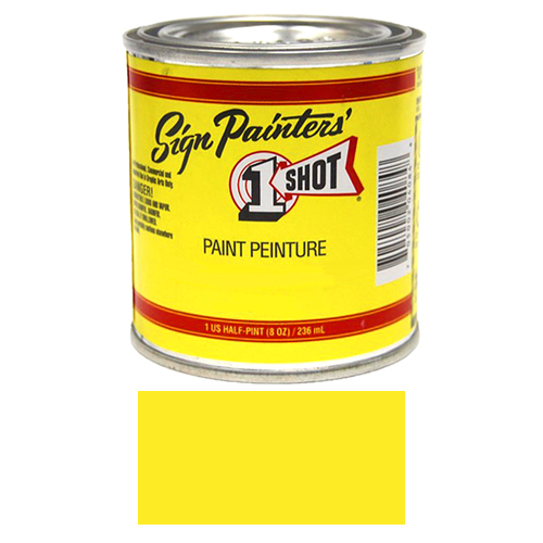 1 Shot Lettering Enamels - 8 oz. - Primrose Yellow