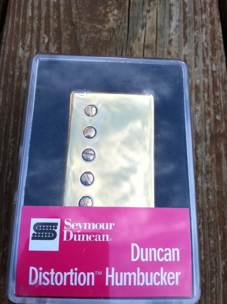 Seymour Duncan Distortion SH-6 BRIDGE Humbucker Guitar Pickup Gold Cover by Seymour Duncan