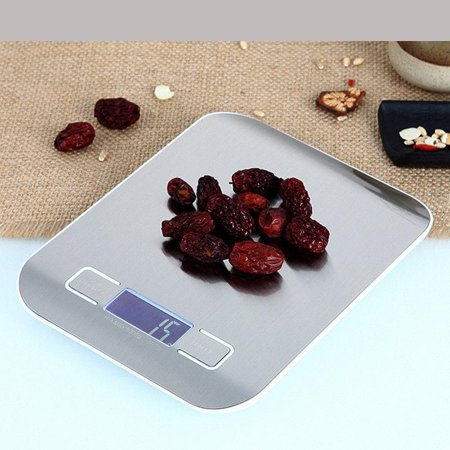 Ktaxon 11LB/0.1lb 5KG/1g LCD Digital Electronic Kitchen Food Diet Postal Scale Weight Balance with Black Back Light Adhesive Backed Scales