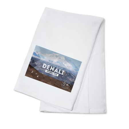 Denali National Park, Alaska - 30% Club - Lantern Press Photography (100% Cotton Kitchen Towel)