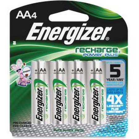 ENERGIZER-BATTERIES NH15BP-4 ENERGIZER AA NIMH 2300MA RECHRGBLE BATTERY - 4 PK