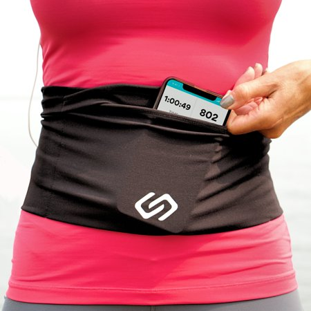 Sporteer VersaFlex Running Belt and Passport/Money Travel Belt - Fits All Mobile Phones - Size Medium