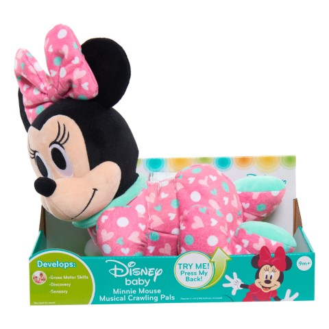 Disney Baby Musical Crawling Pals Plush Minnie Mouse by Just Play