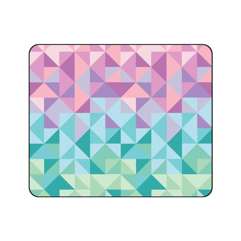OTM Prints Black Mouse Pad, Geo Triangle Pastels
