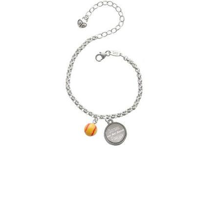 Resin Mini Softball Sisters Are Best Friends Forever Engraved Bracelet