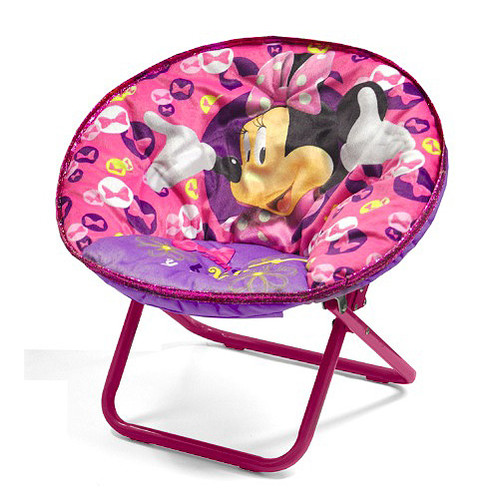 Idea Nuova Minnie Mouse Character Saucer Kids Chair