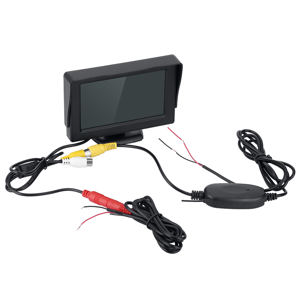 "4.3"" TFT LCD Monitor Wireless Car Backup Camera Rear View System Night Vision Waterproof"