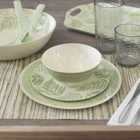 - Mainstays 12-Piece Melamine Dinnerware Set