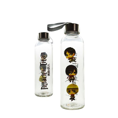 Attack On Titan Glass Water Bottle