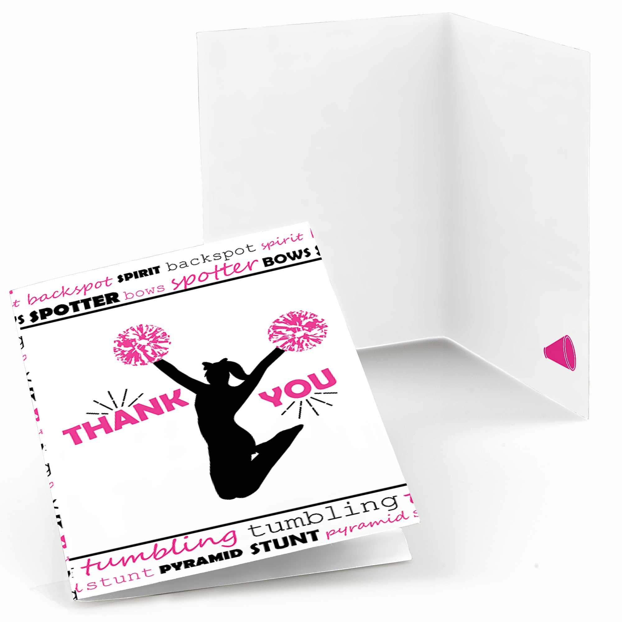 We've Got Spirit - Cheerleading - Birthday Party or Cheerleader Party Thank You Cards (8 count)