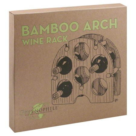 Oenophilia 6 Bottle Bamboo Arch Wine Rack (Arched Wine Rack)