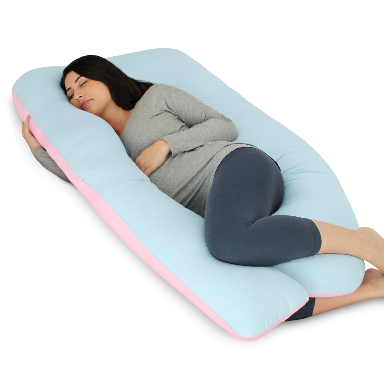 PharMeDoc Pregnancy Pillow - U Shaped Body Pillow w/Jersey