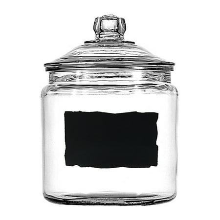 Good Job Jar (Anchor Hocking Heritage Hill 1 Gallon Glass Dry Good Storage Jar with Chalkboard Label)