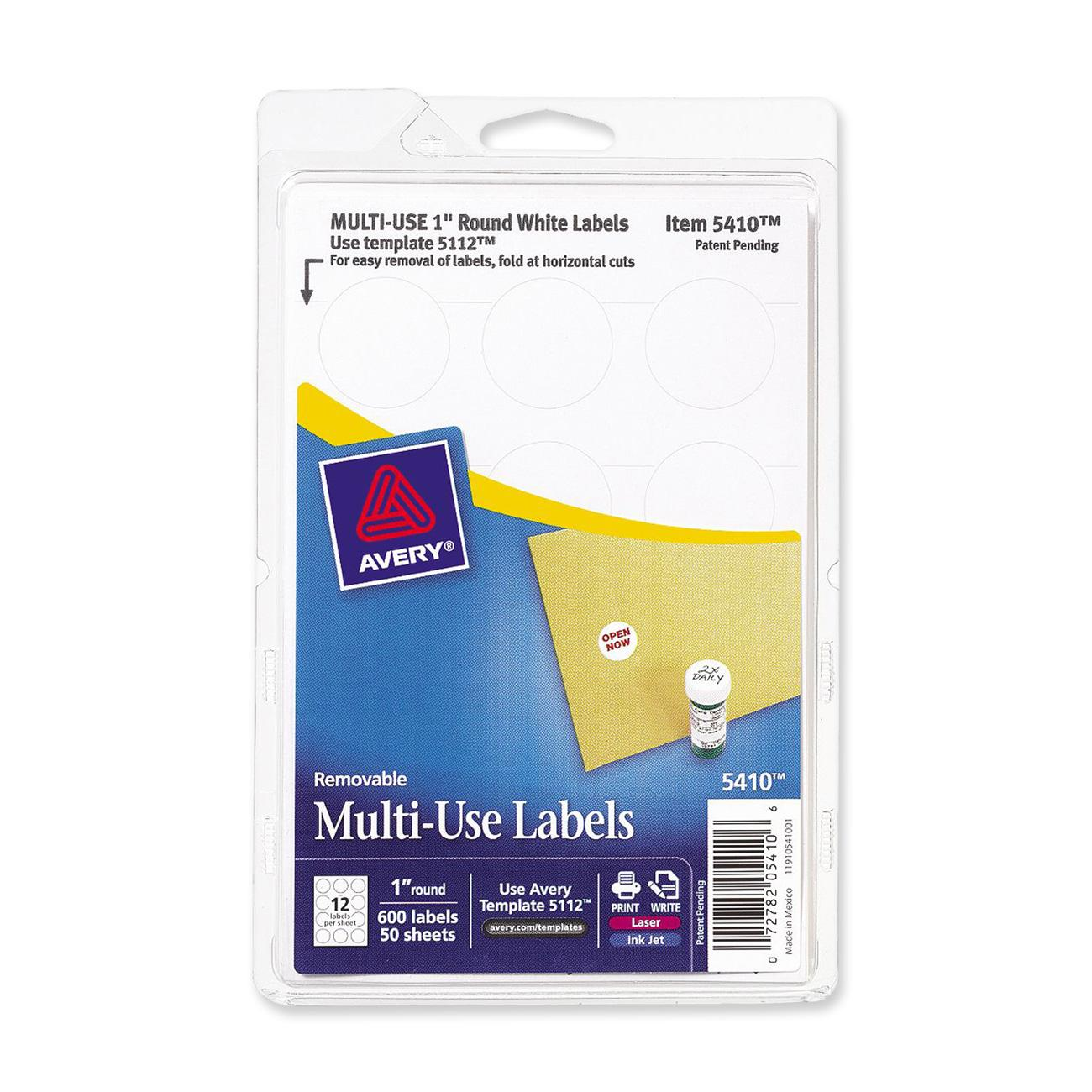Avery Print Or Write Multi Use Round Labels Walmart